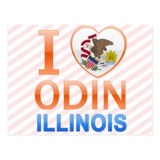 I Love Odin, IL Postcard