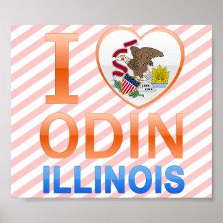 I Love Odin, IL Poster