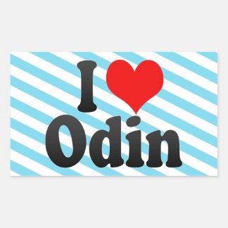 I love Odin Rectangular Sticker