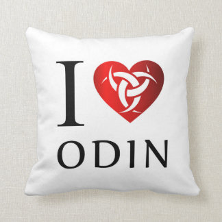 I love Odin Throw Pillow