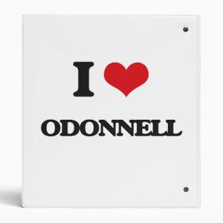 I Love Odonnell Binder