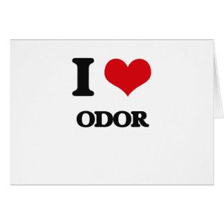 I Love Odor Greeting Cards
