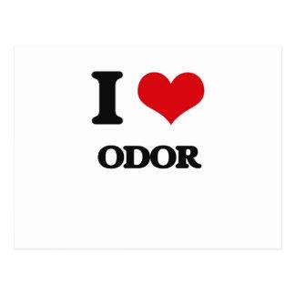 I Love Odor Postcard