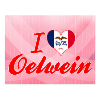 I Love Oelwein, Iowa Postcard