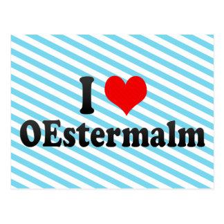 I Love OEstermalm, Sweden Postcard