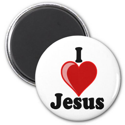 I Love of Jesus Gifts 2 Inch Round Magnet