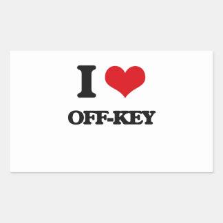 I Love Off-Key Rectangular Sticker