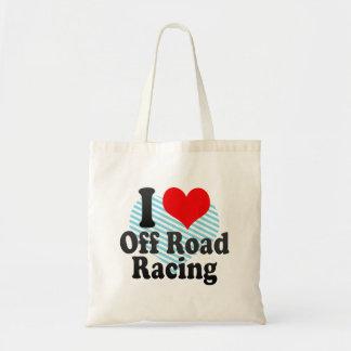 I love Off Road Racing Canvas Bag