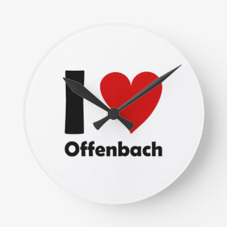 I love Offenbach Round Clock