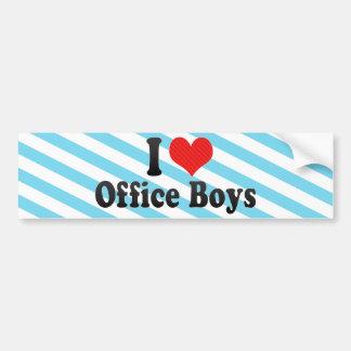 I Love Office Boys Bumper Stickers