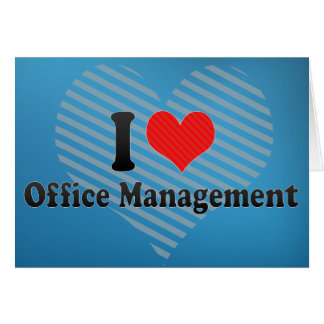 I Love Office Management Cards