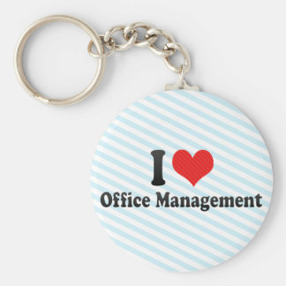 I Love Office Management Key Chains