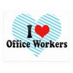 I Love Office Workers Postcards