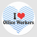 I Love Office Workers Sticker