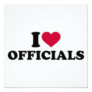 I love officials card