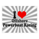 I love Offshore Powerboat Racing Postcards