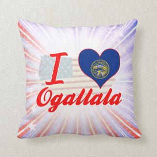 I Love Ogallala, Nebraska Throw Pillow