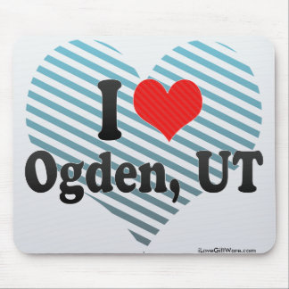 I Love Ogden, UT Mouse Pad