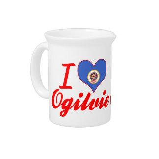 I Love Ogilvie Minnesota Drink Pitchers