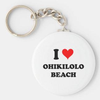 I Love Ohikilolo Beach Hawaii Keychains
