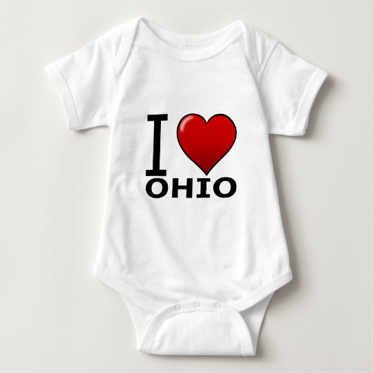 I LOVE OHIO BABY BODYSUIT