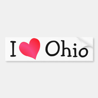 I Love Ohio Bumper Sticker