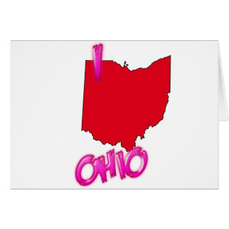 I Love OHIO Card