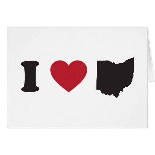 I Love Ohio Card