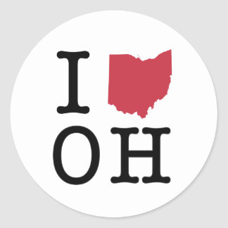 I Love Ohio Classic Round Sticker
