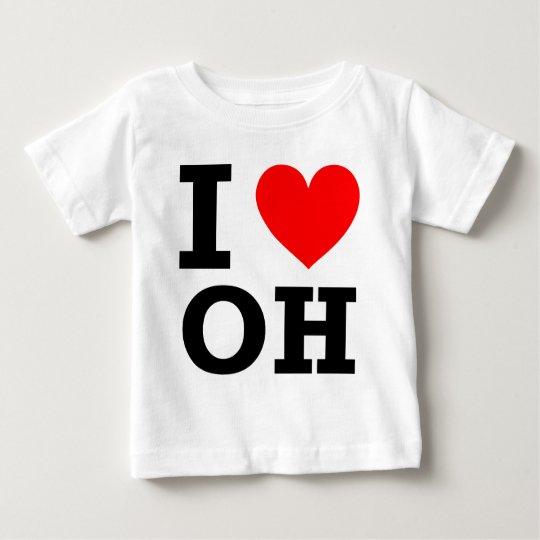 I Love Ohio Design Baby T-Shirt