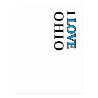 I Love Ohio Design Postcard