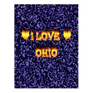 I love ohio fire and flames postcard