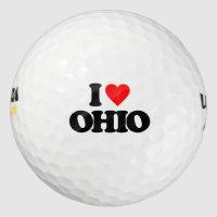 I LOVE OHIO GOLF BALLS