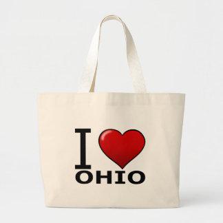 I LOVE OHIO JUMBO TOTE BAG