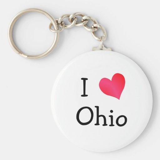 I Love Ohio Keychain