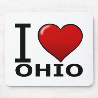 I LOVE OHIO MOUSE PAD