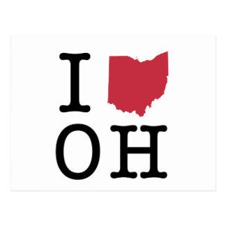 I Love Ohio Postcard