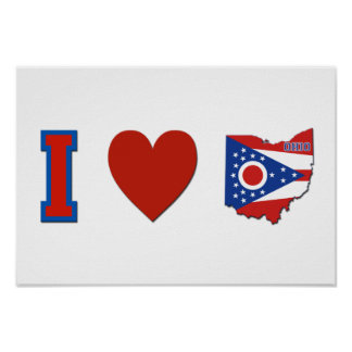 I Love Ohio Poster
