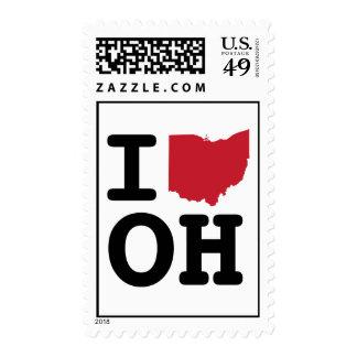 I Love Ohio Stamp