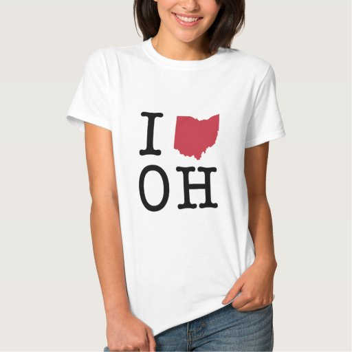 I Love Ohio Tee Shirt