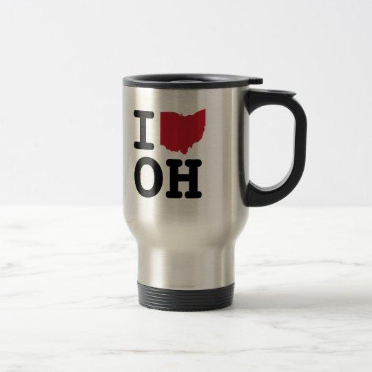 I Love Ohio Travel Mug