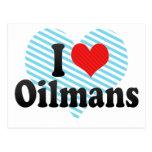 I Love Oilmans Postcard