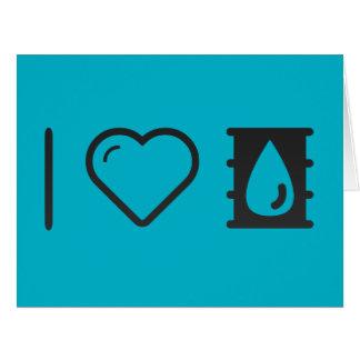 I Love Oils Large Greeting Card