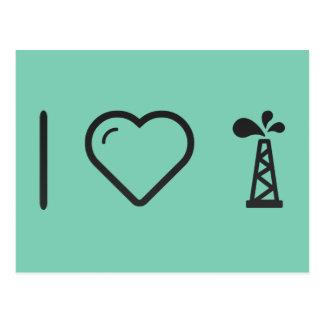 I Love Oils Postcard