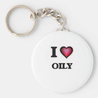 I Love Oily Keychain