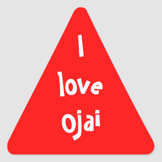 I love Ojai Triangle Sticker