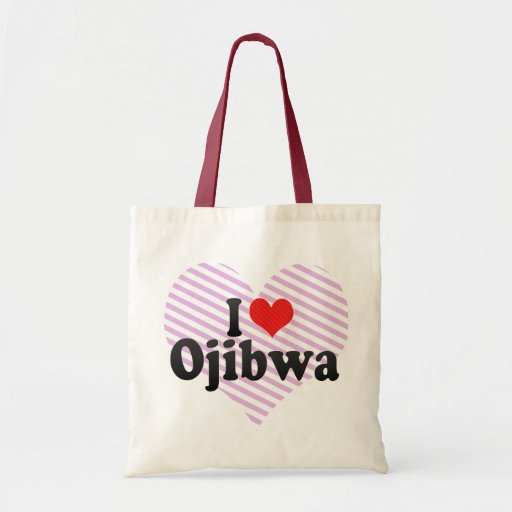 I Love Ojibwa Budget Tote Bag