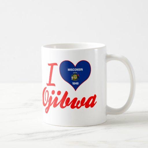 I Love Ojibwa, Wisconsin Classic White Coffee Mug