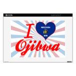 I Love Ojibwa, Wisconsin Laptop Decals