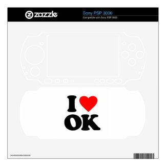 I LOVE OK SKIN FOR SONY PSP 3000